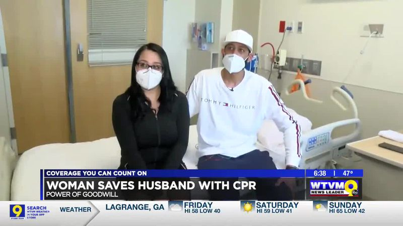 Power of Goodwill: Woman saves husband with CPR