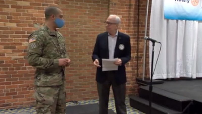 Rotary Club of Columbus honors its Soldier of the Week