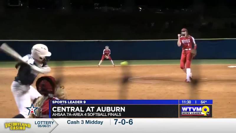 Auburn claims area softball title