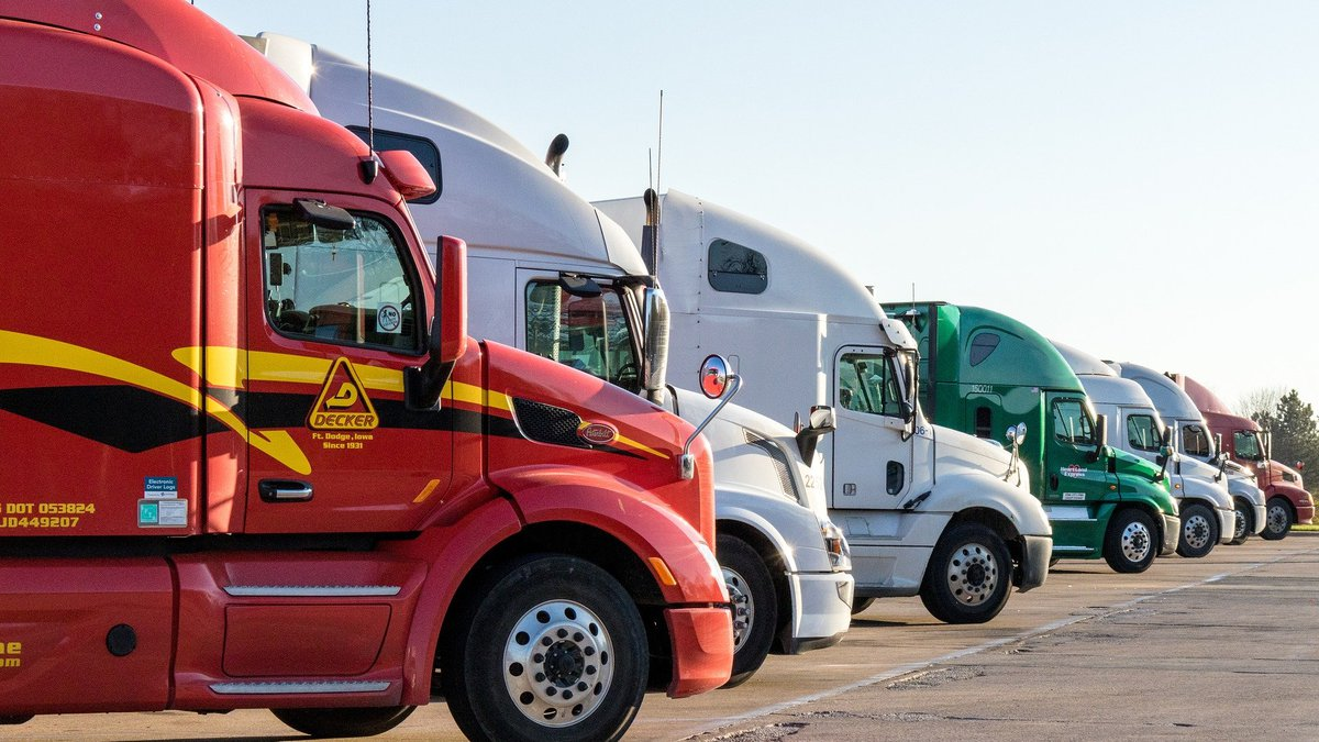 Truck drivers are still hitting the roads making sure the vital supplies needed make it onto...