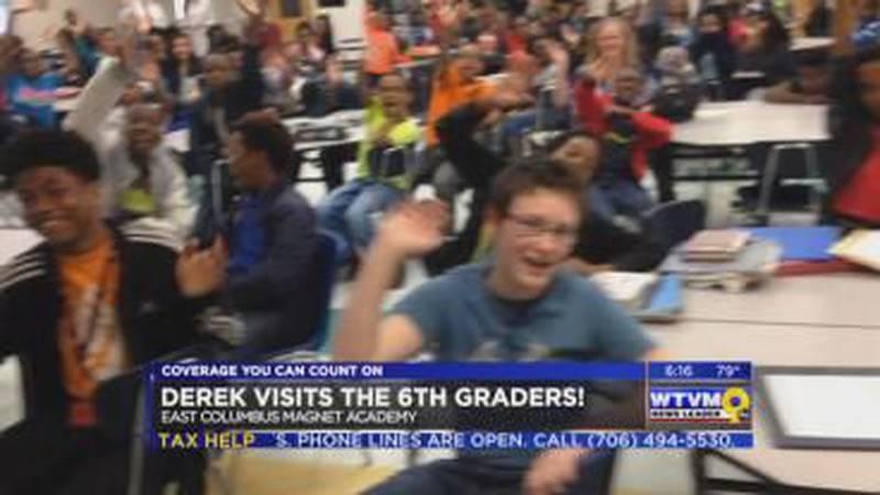 Derek Visits the 6th Graders at East Columbus Magnet Academy!