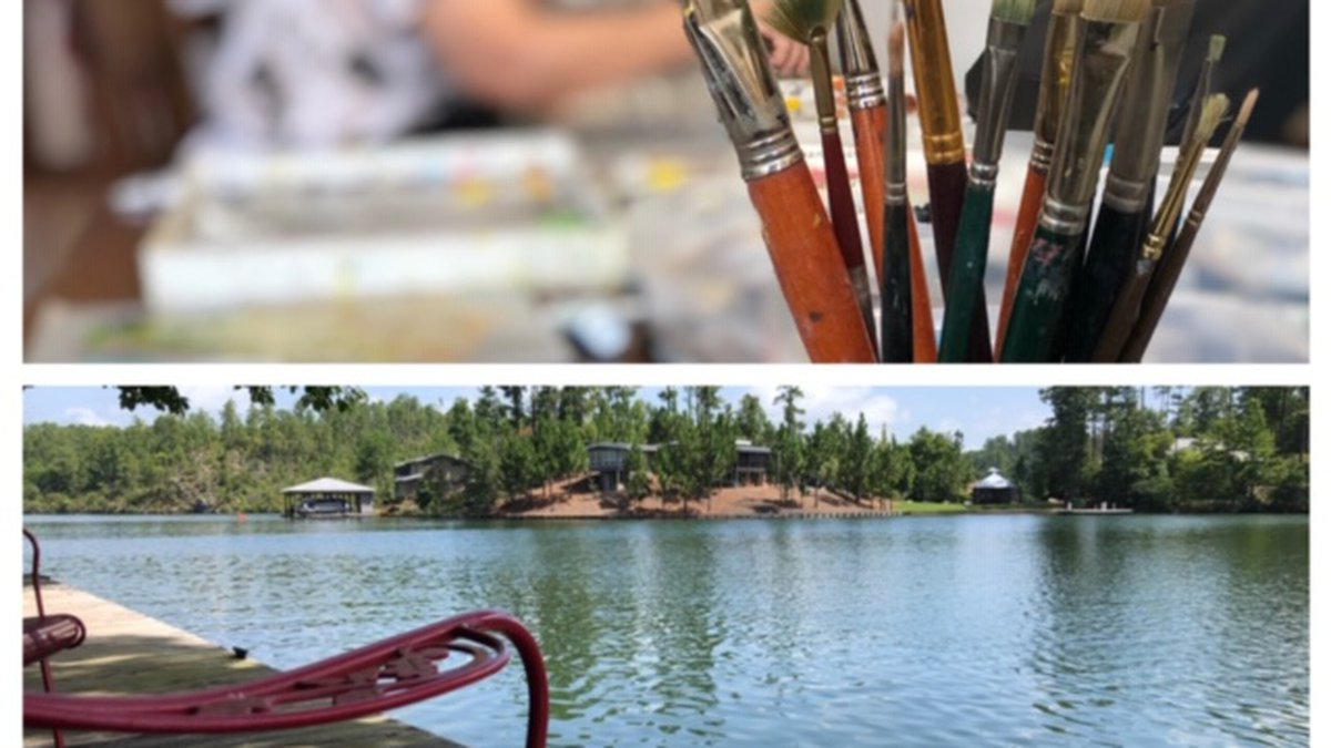The Tallapoosa School of Art offers something a little different. You can paint all day then...
