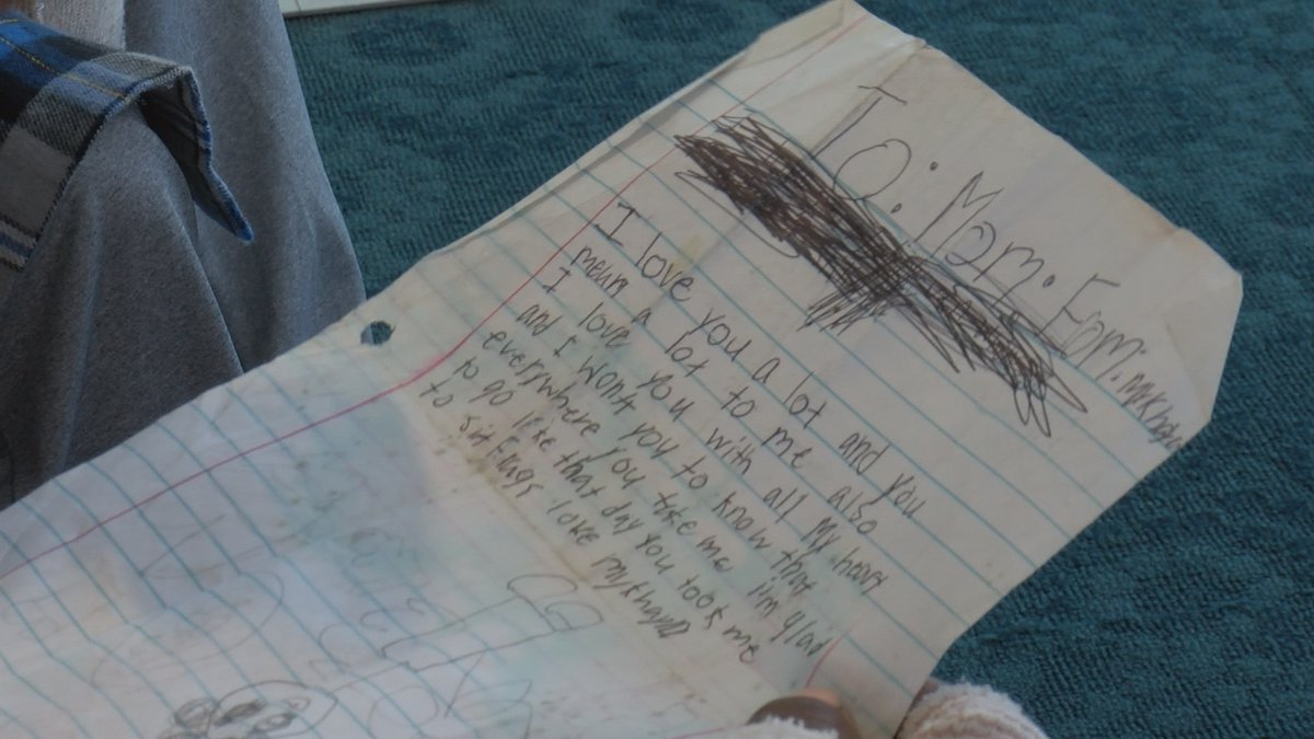 A woman from Lee County finds a letter from her deceased daughter amongst debris from tornado.