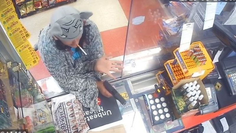 Huntsville police say this woman tried to rob a Texaco on Bob Wallace Avenue.