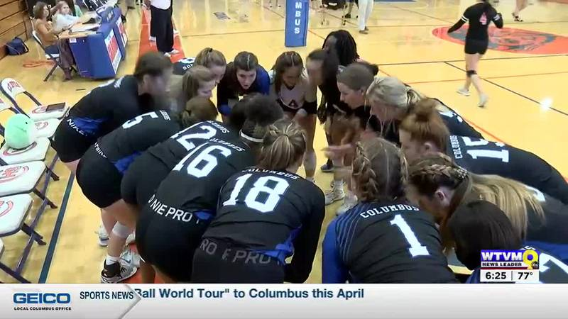 Columbus Volleyball beats Rutland, 3-0, to advance to second round