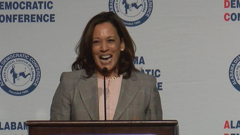 United States Senator and democratic presidential candidate Kamala Harris was in Montgomery on...