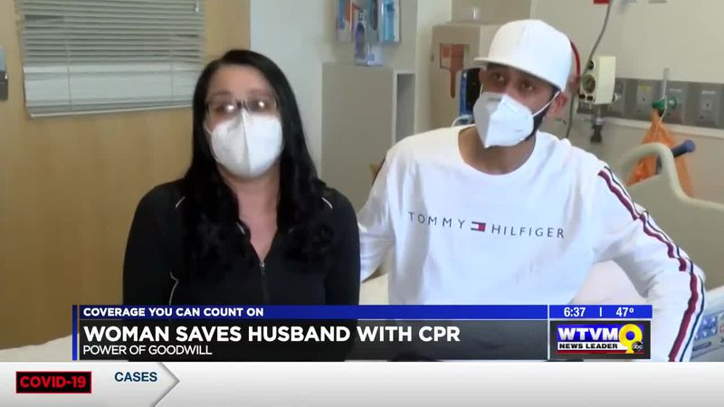 Power of Goodwill - Woman Saves Husbands Life with CPR