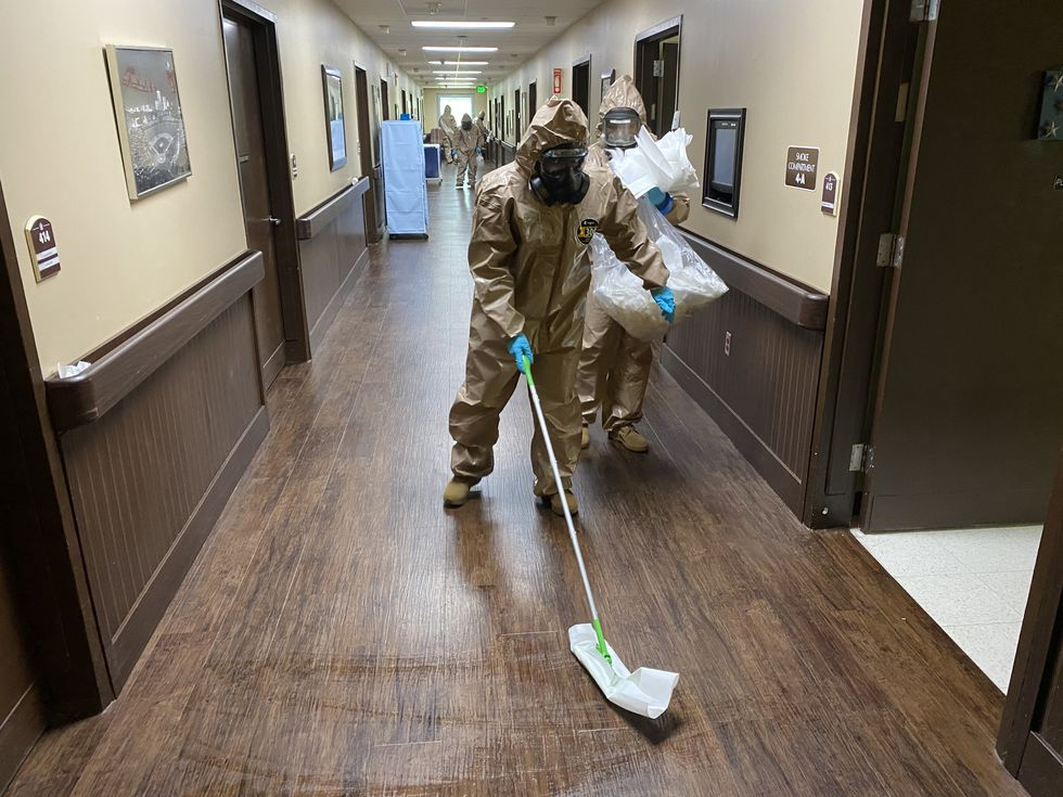 Alabama National Guard conducts first COVID-19 mission at state veterans home