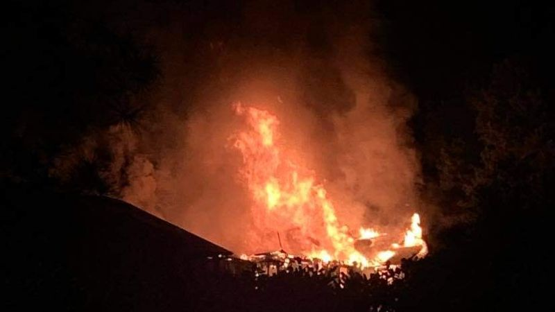 Fire crews battling massive fire at The Lakes Apartments in Columbus