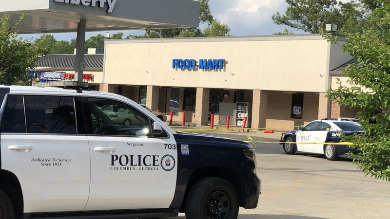 Heavy police presence at Liberty on Ft. Benning Road.