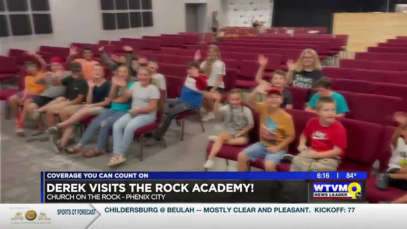 Video clip of the kids at The Rock Academy that aired on the 6 PM newscast.