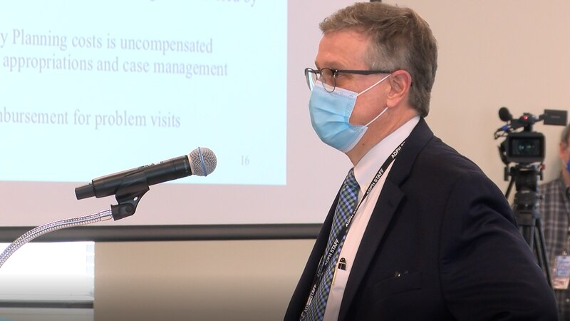 State Health Officer Scott Harris addressed COVID-19 vaccine distribution concerns to state...