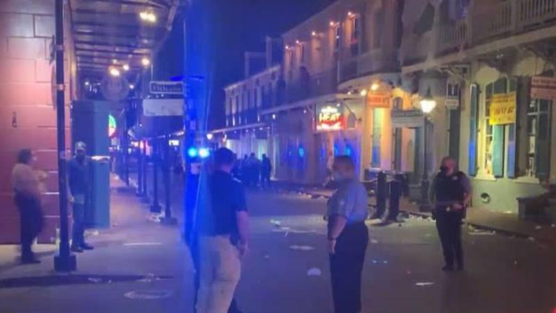 Five people were shot on Bourbon Street, Sunday, Aug. 1