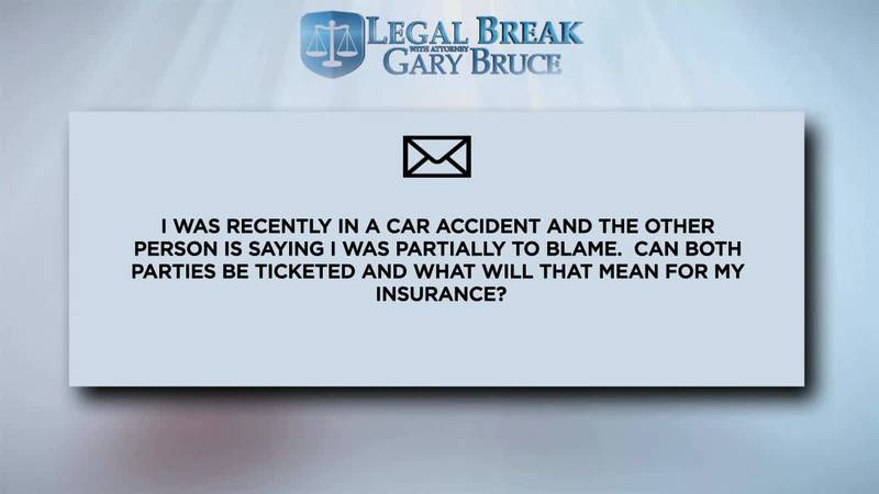 LEGAL BREAK - BLAME FOR CAR ACCIDENT