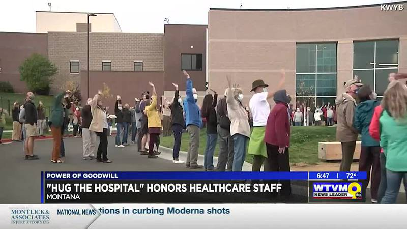 """Power of Goodwill: """"Hug the Hospital"""" honors healthcare staff"""