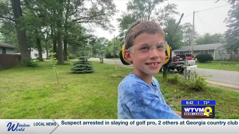 Power of Goodwill: 8-year-old mows lawn for free