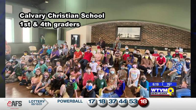 Derek Visits the 1st and 4th Graders at Calvary Christian School!
