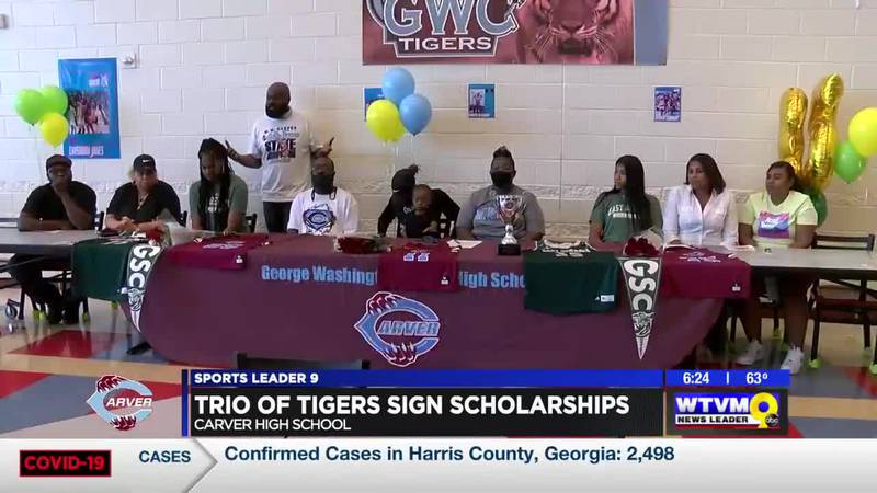 Three Carver Tigers sign college basketball scholarships