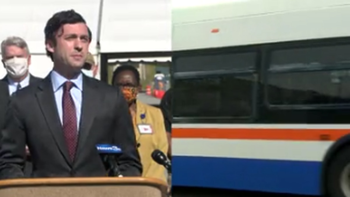 Sen. Jon Ossoff discusses Columbus bus system expansion with director of Transportation for...
