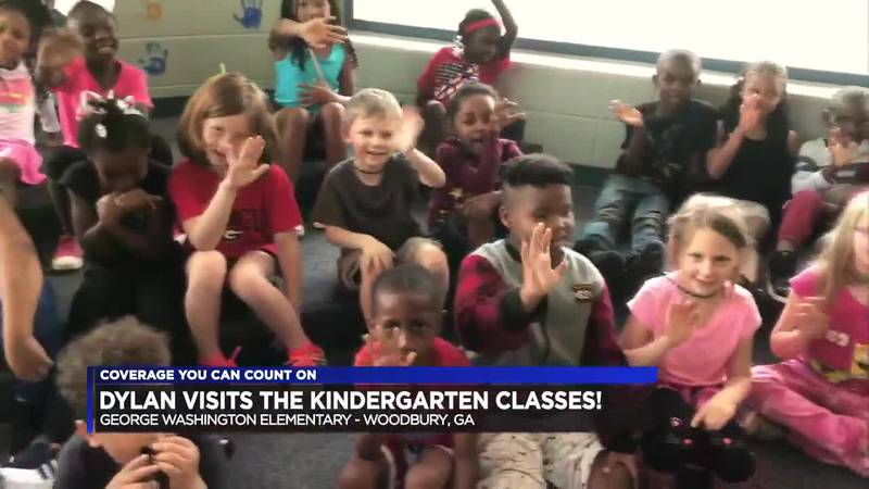 Dylan Visits the Kindergarten Classes at George Washington Elementary!
