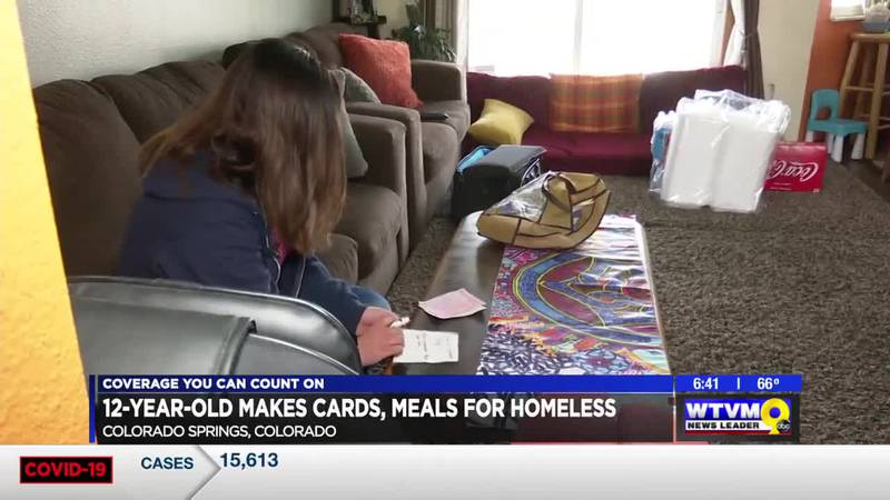 Power of Goodwill: 12-year-old makes cards, meals for homeless
