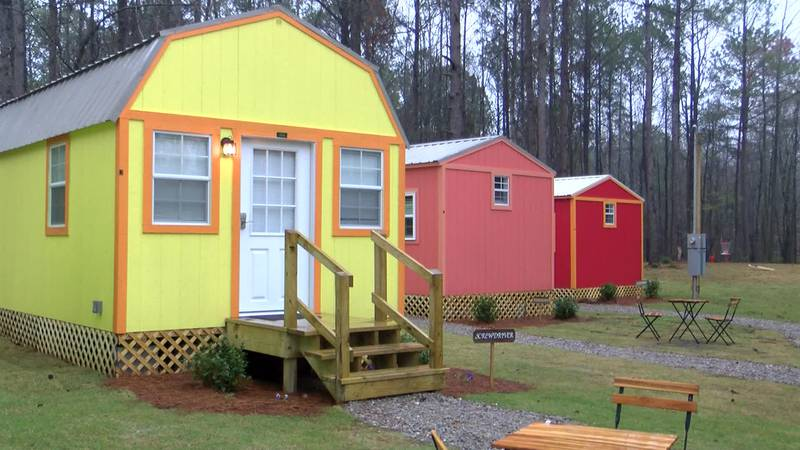 Annie Jones and her two daughters opened a resort at Paradise Tiny Village.