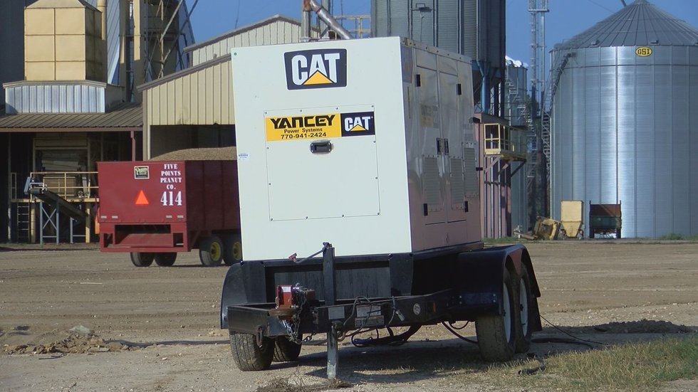 One peanut buying point is using multiple generators to operate (Source: WALB)