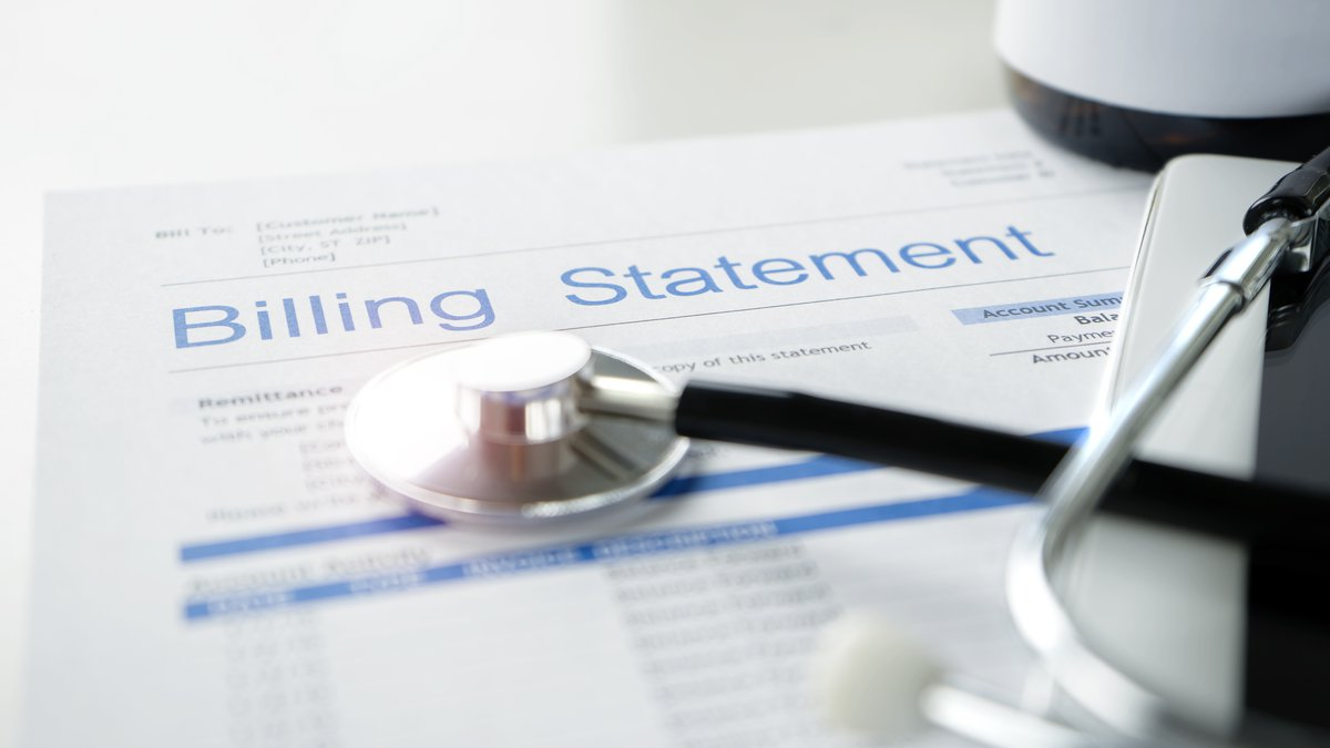 FILE photo of a health care billing statement.