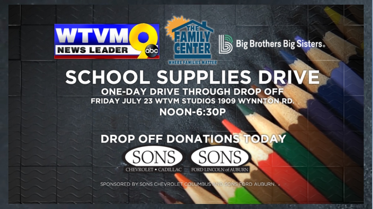 WTVM to host school supply drive