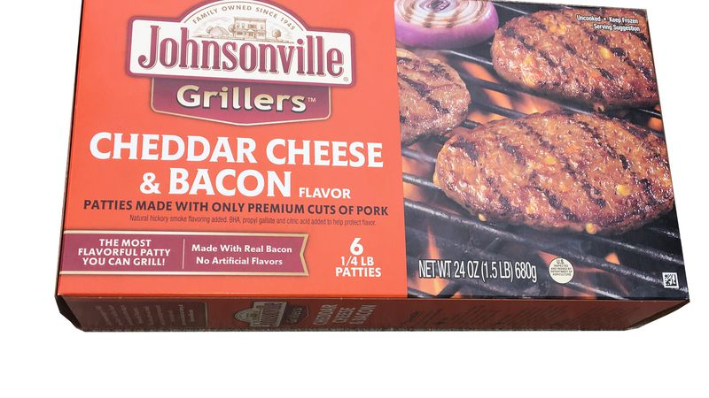 The recall is limited to 24 oz. boxed packages of Johnsonville Cheddar Cheese & Bacon Grillers...