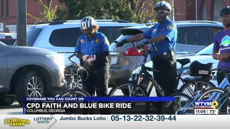 CPD participates in 'Faith & Blue' bike ride
