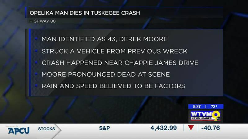 Opelika man dies in Tuskegee crash