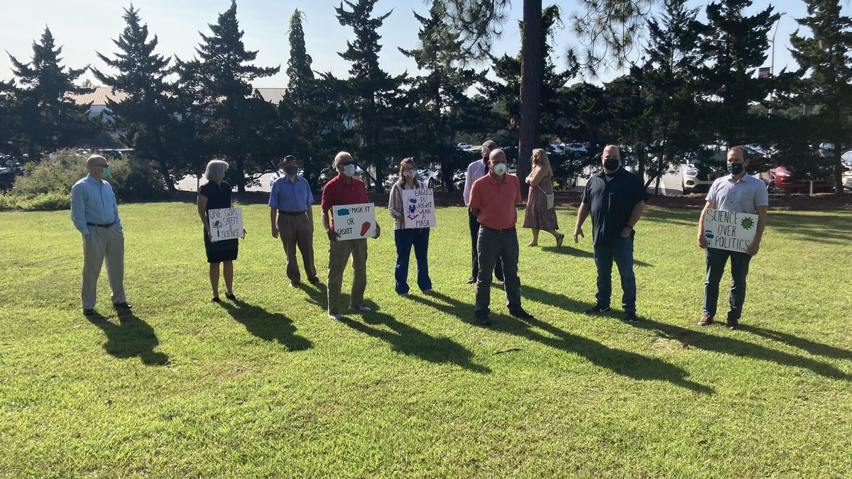 Faculty at Georgia Southern University's Armstrong Campus Monday morning called on the...