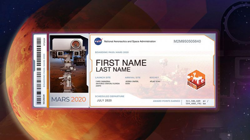 Members of the public who want to send their name to Mars on NASA's Mars 2020 rover mission can...