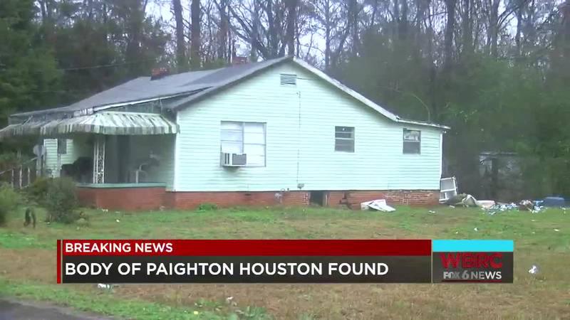 Body of Paighton Houston found