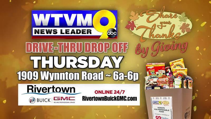 Drive-thru and drop off non-perishable food items at WTVM