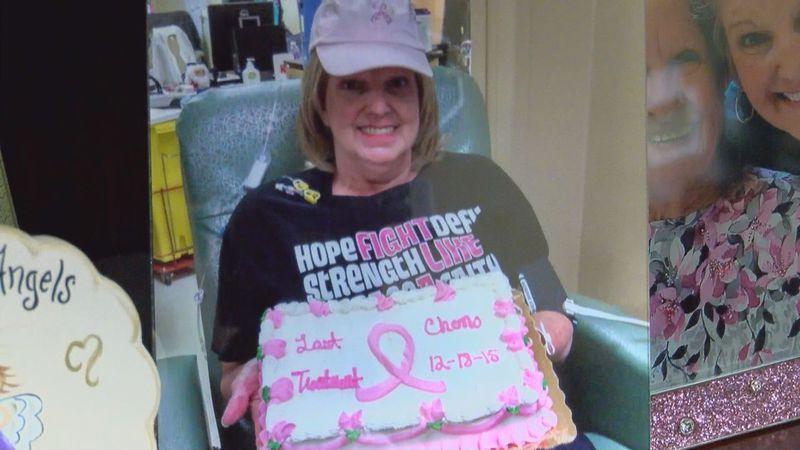 Sulkowski celebrates her last round of chemo with a cake (Source: WALB)