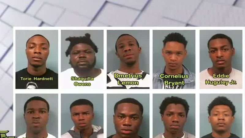 Lagrange Police Department arrests 8 out of 10 suspects for gang activity
