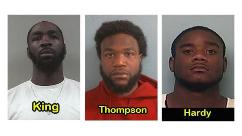 Police arrested King, Thompson, and Hardy at a home on Barnard Ave. in LaGrange.