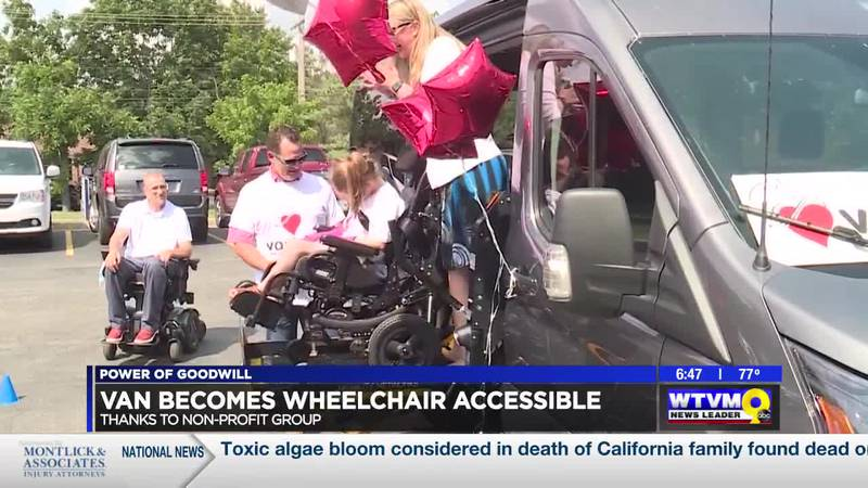Power of Goodwill: Van made wheelchair accessible