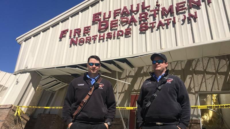 Eufaula Firemen - Tornado Survivors  Lt. Ethan Parrish  Driver Engineer Corey Crozier