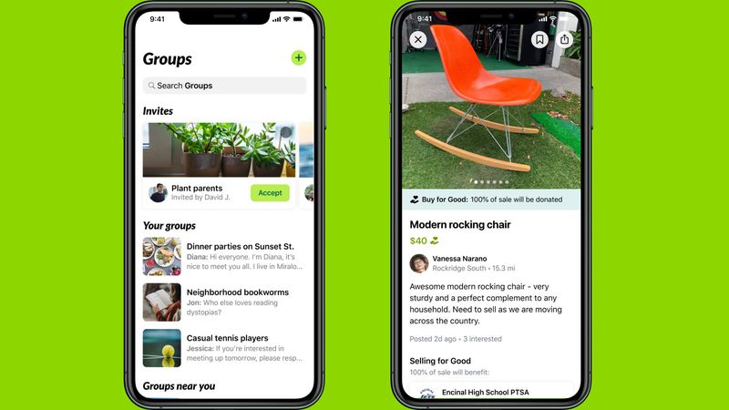 Nextdoor's new Free Find feature helps users quickly find items nearby that are listed at no...