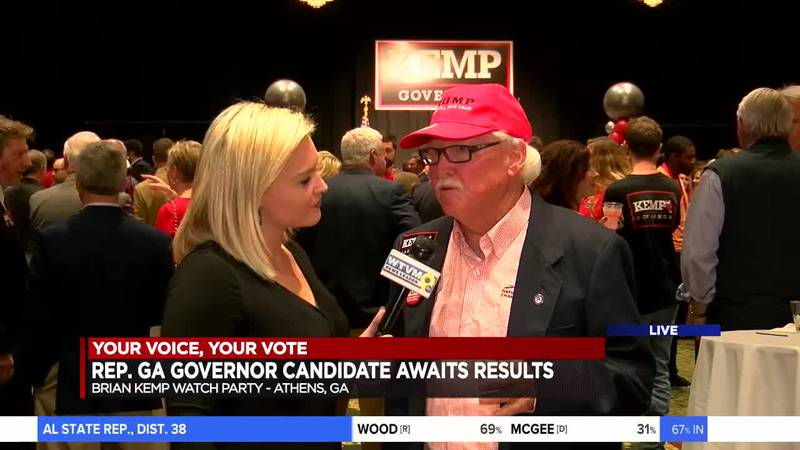 Brian Kemp receives a lot of support on election night