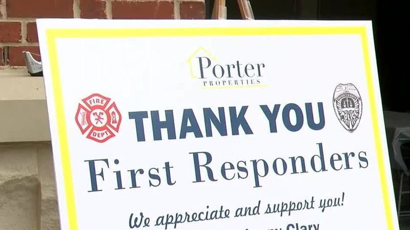 Real estate company holds appreciation luncheon for first responders in Auburn.