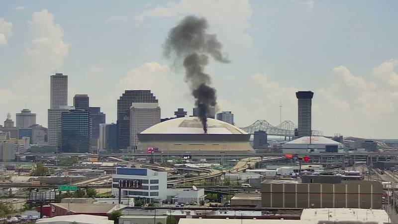 A fire was reported at the Caesar's Superdome just after 12:30 p.m. CT on Sept. 21