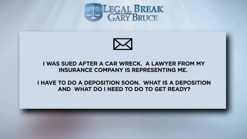 LEGAL BREAK - DEPOSITION