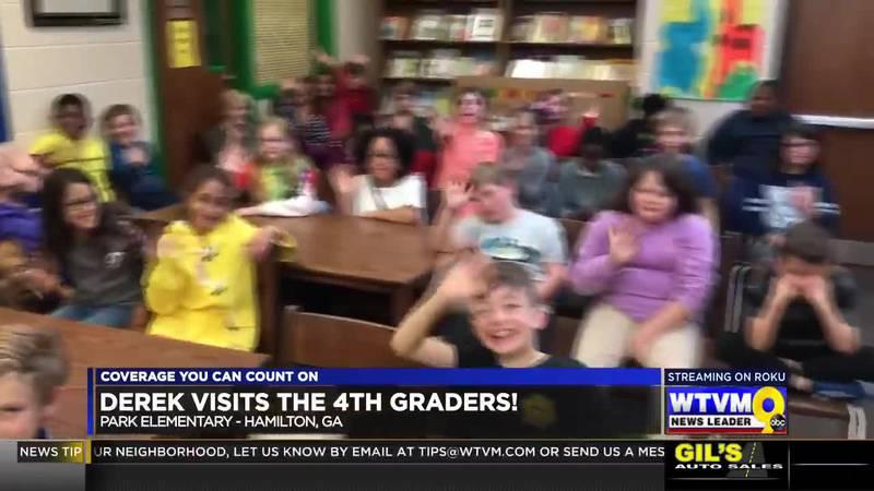 Derek Visits the 4th Graders at Park Elementary in Hamilton!