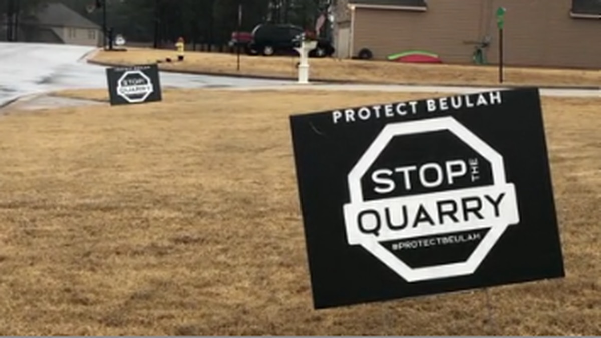 Lee County Commission votes to allow Beulah residents to vote rezoning a proposed quarry