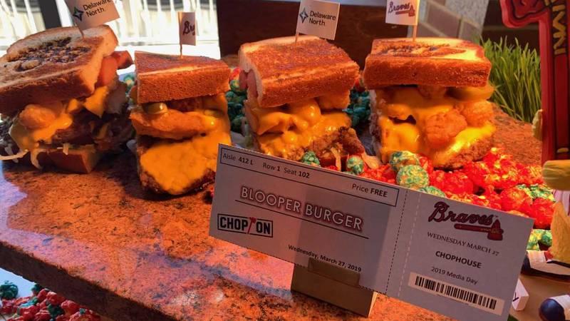 Blooper Burger, new dining options at SunTrust Park