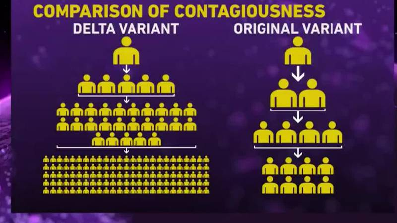 Health officials stress the importance of COVID-19 vaccinations as the Delta variant surges...